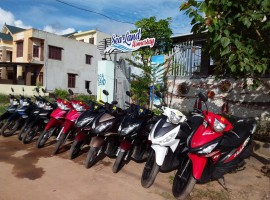 Dong Hoi motorbikes for rent .
